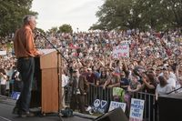Ron Paul speaks at a rally at the University of Texas at Austin on April 26, 2012.