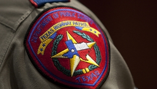 Texas Department of Public Safety patch worn on uniform during graduation ceremony in Austin, Texas April 7th, 2011