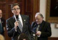 January 9th, 2013: Sen. Dan Patrick R-Houston who is in favor of eliminating the two-thirds rule, speaks on the Senate floor. Senators have agreed to leave the rule as is.