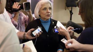 Sen. Judith Zaffirini, D-Laredo, speaks to reporters on Oct. 4, 2012. She was replaced as the Senate Higher Education Committee chair.