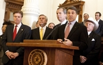 Gov. Perry with members of Texas House and Senate hold press conference to discuss importance of 10th Amendment. March 9th, 2011