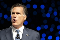 Former Massachusetts Gov. Mitt Romney speaks at the Veterans of Foreign Wars national conference in San Antonio on Aug. 30, 2011.