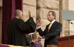 Lt. Gov David Dewhurst sworn in by Chief Justice Wallace Jefferson on January 18th, 2011
