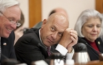 Sen John Whitmire D-Houston listens during Senate Finance Committee meeting on April 19th, 2011