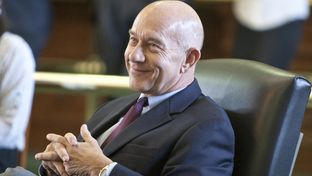 January 14th, 2013: Senator John Whitmire D-Houston smiles as fellow Senators praise his 40 years in the Texas legislature