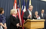 Lt. Gov. Dewhurst during press conference introducing Senate Bill 7 and Senate Bill 8, legislation designed to improve health care. February 16th, 2011