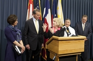 Sen Jane Nelson during press conference introducing Senate Bill 7 & 8, legislation to improve health care