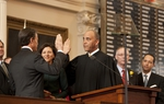 Speaker of the House, Joe Straus being sworn in as Speaker of the House for the 2011 Legislative Session.