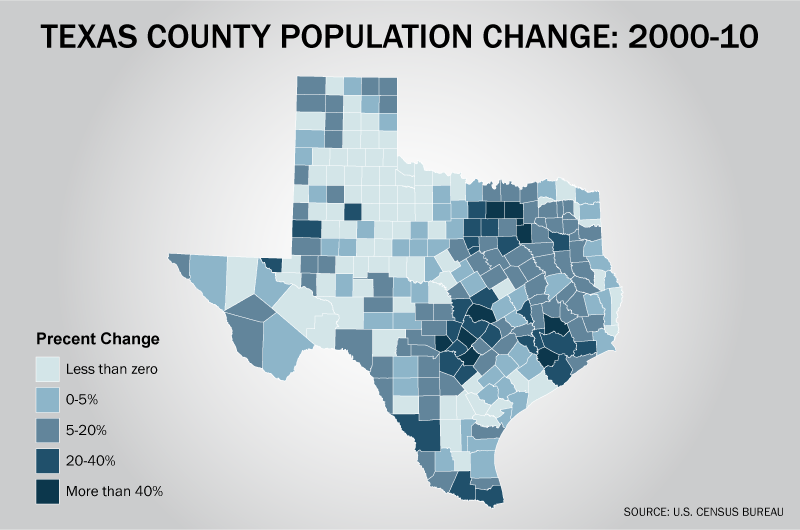 2010 Census Maps 2010 Census Data For Texas