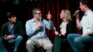 Julián Aguilar, Ben Philpott, Emily Ramshaw and Reeve Hamilton talk at KUT's Views and Brews for the Tribune's Tribcast on April 24, 2012.