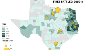 Fires worked by the Texas Forest Service: 2009-11.