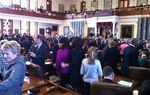 The Texas House floor on session opening day 2011