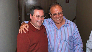 "Juaréz Mayor-elect Hector ""Teto"" Murguía and current Mayor José Reyes Ferriz"