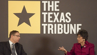 Linda Chavez-Thompson speaks with Texas Tribune CEO Evan Smith about her run for the office of Lieutenant Governor during a taping of TribLive at the Austin Club.