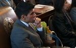 State Rep. Eddie Lucio III, D-San Benito, on the House floor January 2011.
