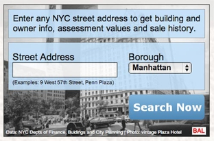 A developer created a widget allowing anyone to search more than 5 million property records in New York City.