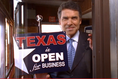 Screen Shot: Perry's Open for Business Ad