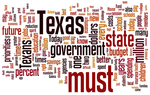 Word cloud of Rick Perry's State of the State speech in 2003.