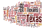 Word cloud of Rick Perry's State of the State speech in 2009.