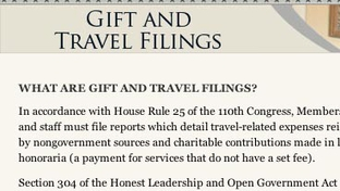 U.S. House travel disclosure Web site.