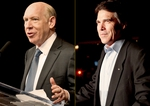 BIll White, Rick Perry at their Primary 2010 reception speeches.