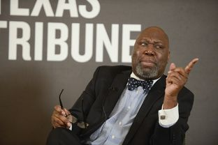 Texas Commissioner of Education Michael Williams answers a question at TribLive on Jan. 10, 2013.