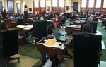 The Texas Senate talks education funding, revenue and Rainy Day spending as members debate suspending the rules to bring up their substitute for House Bill 1, the proposed budget for the next biennium.