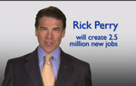 Rick Perry's presidential campaign reportedly spent $175,000 on its first ad buy in Iowa, whose crucial caucus is a little more than two months away. The ad focuses on job creation efforts in Texas during Perry's tenure as governor.