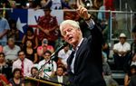 Former President Bill Clinton stopped in San Antonio on Thursday to rally Democrats and campaign for Democratic congressional hopeful Pete Gallego, who is challenging U.S. Rep. Quico Canseco.