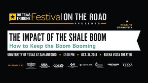 At our 10/31 symposium on the impact of the shale boom on Texas, Jim Malewitz talked with state Rep. Jim Keffer, R-Eastland, and Texas Railroad Commissoner Barry Smitherman about what it will take to keep the boom booming.