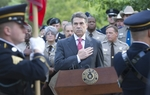 Gov. Rick Perry marked the tenth anniversary of the 9/11 attacks during a memorial service Sunday at the Texas State Cemetery.
