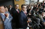 Watch Gov. Rick Perry, his defense attorneys and the special prosecutor in Perry's felony indictment speak Thursday to news outlets following a pre-trial hearing in Perry's abuse-of-power case. Perry's attorneys argued that the prosecutor was improperly sworn in.