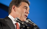 "During his speech, Gov. Rick Perry said he was going home for some ""prayer and reflection"" to decide whether to continue his presidential quest after a dismal fifth-place finish in the Iowa caucuses on Tuesday."
