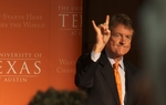 University of Texas at Austin President Bill Powers delivered a speech Monday — two days before the University of Texas System Board of Regents gathers in Austin for a highly anticipated meeting — outlining the university's budget concerns and plans for innovation.