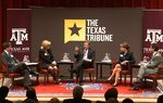 At the Trib's November 29 symposium on higher education at Texas A&M University, Reeve Hamilton talked about pathways to student success with Shirley Reed of South Texas College, House Higher Education Committee Chairman Dan Branch, Denise Trauth of Texas State University and Lawrence Schovanec of Texas Tech University.