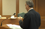 In this clip from Monday's testimony, Commissioner Rod Bordelon of the state Division of Workers' Compensation explains why he dismissed several cases against doctors that a physician review panel had already sent to enforcement. Under questioning, he admits he looked into the process and subsequently shut it down after a call from state Rep. Leo Berman, R-Tyler.