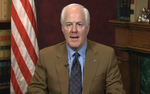 July 21, 2011  Texas Sen. Cornyn addresses the final shuttle landing .