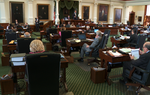 "The Texas Senate voted today along party lines to pass a substitute version of HB 1. ""It didn't come together the way I envisioned,"" said Lt. Gov. David Dewhurst."