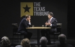 During an October 15, 2011 interview, Gov. Rick Perry sat down with Texas Tribune CEO and Editor-in-Chief Evan Smith  for an interview co-presented by the Tribune and Austin's public broadcasting stations, KUT and KLRU.