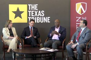 On 4/10, I talked about the future of transportation policy in Texas with Deirdre Delisi, former chair of the Texas Transportation Commission; Dallas County Judge Clay Jenkins; former U.S. Trade Representative Ron Kirk; and state Rep. Larry Phillips, R-Sherman.