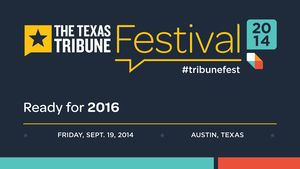 Watch The Texas Tribune Festival's keynote session on an early look at the 2016 campaign. Panelists include Politico's Maggie Haberman, MSNBC's Chris Hayes, The Washington Post's Nia-Malika Henderson, The New York Times' Jonathan Martin and Slate's David Weigel.