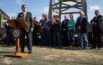 During a stop Wednesday at the Spindletop Museum in Beaumont, U.S. Sen. Ted Cruz pitched his energy policy bill.