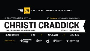 Full video of my 11/6 TribLive Conversation with Christi Craddick, chairman of the Texas Railroad Commission.