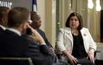 At Thursday's TribLive conversation, state Sen. Leticia Van de Putte, D-San Antonio, talked about the influence of so-called outside groups on the work of the Legislature.