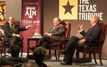 At the Trib's November 29 symposium on higher education at Texas A&M University, I talked about the cost of a college degree, the pursuit of academic excellence and, of course, SEC football with A&M's president, R. Bowen Loftin, and A&M System Chancellor John Sharp.