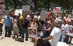 "Texans for Accountable Government and their coalition partners rallied on the front steps of the Texas Capitol Saturday, urging Gov. Rick Perry to support HB 1937. The so-called ""TSA groping"" bill, by state Rep. David Simpson, R-Longview, would restrict instrusive screening practices by security personnel."
