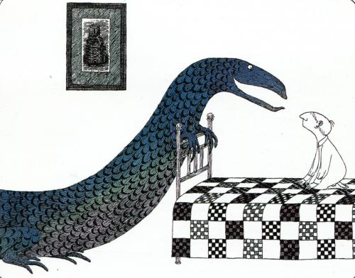 A postcard by Edward Gorey