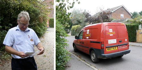 AllSerene's postman and his van