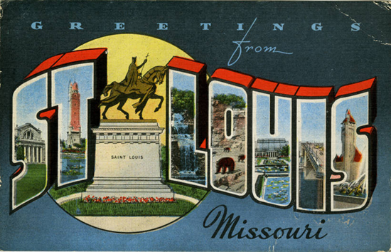 Missouri - Teich Company postcard