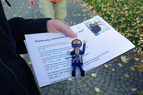 Bielefeld's scavenger hunt